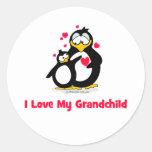 I love my grandchild round stickers