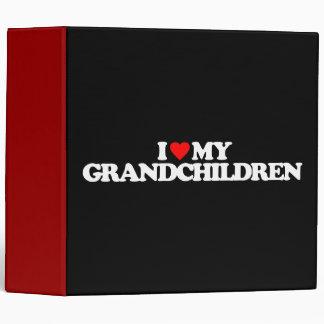 I LOVE MY GRANDCHILDREN VINYL BINDER