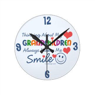 I Love My Grandchildren Round Wall Clock