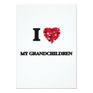 I Love My Grandchildren 5x7 Paper Invitation Card