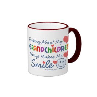 I Love My Grandchildren Ringer Coffee Mug