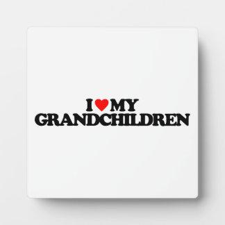 I LOVE MY GRANDCHILDREN PLAQUE