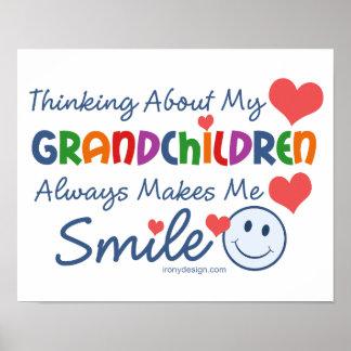 I Love My Grandchildren Poster