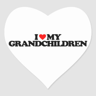 I LOVE MY GRANDCHILDREN HEART STICKERS