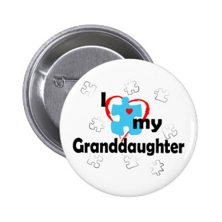 I Love My Granddaughter - Autism Button