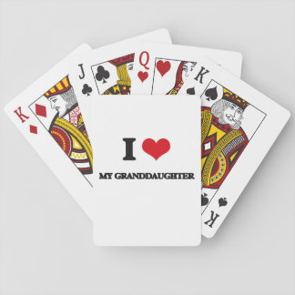 I Love My Granddaughter Poker Deck