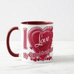 "I Love My Granddaughter red - heart Mug<br><div class=""desc"">I Love My Granddaughter red - heart</div>"