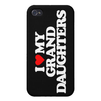 I LOVE MY GRANDDAUGHTERS COVERS FOR iPhone 4