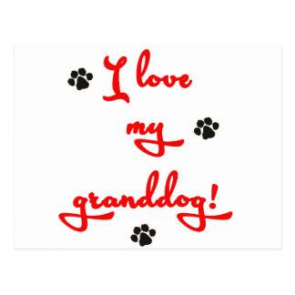 I love my Granddog! Postcard