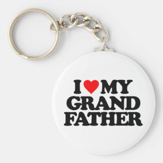 I LOVE MY GRANDFATHER KEYCHAIN