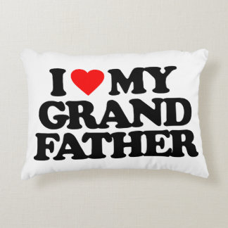 I LOVE MY GRANDFATHER ACCENT PILLOW