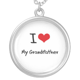 I love My Grandfather Personalized Necklace
