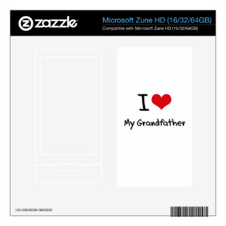 I Love My Grandfather Decals For Zune HD