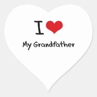 I Love My Grandfather Heart Sticker