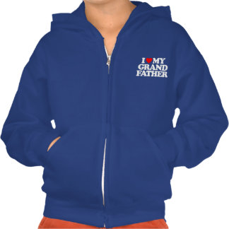 I LOVE MY GRANDFATHER HOODED PULLOVER