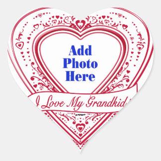 I Love My Grandkid! Photo Red Hearts Heart Sticker