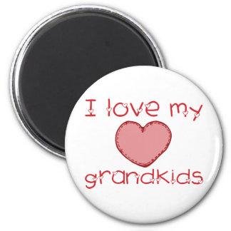 I love my grandkids 2 inch round magnet