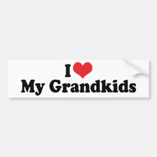 I Love My Grandkids Bumper Sticker