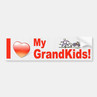I LOVE MY GRANDKIDS! BUMPER STICKER
