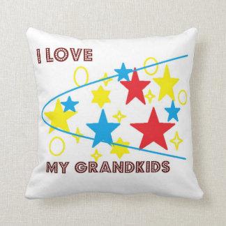 I Love My Grandkids Stars Pillow