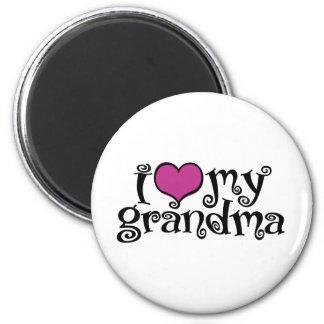 I Love My Grandma 2 Inch Round Magnet