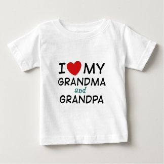 I Love My Grandma and Grandpa Baby T-Shirt