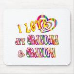 I Love My Grandma and Grandpa Mouse Pad