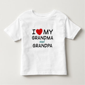 I Love My Grandma and Grandpa Toddler T-shirt