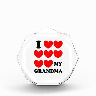 I Love My Grandma Acrylic Award