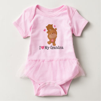 I Love My Grandma baby girls Tutu Tee