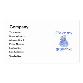 I love my grandma (blue bear) Double-Sided standard business cards (Pack of 100)