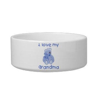 I love my grandma (blue bear) pet food bowl