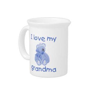I love my grandma (blue bear) pitcher