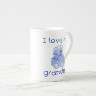 I love my grandma (blue bear) tea cup