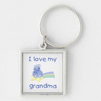 I Love My Grandma (blue bear w/ star) Keychain