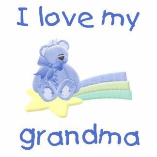 I Love My Grandma blue bear w star Acrylic Cut Outs