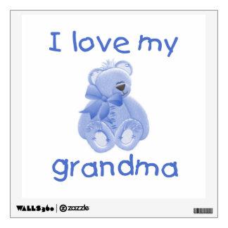 I love my grandma (blue bear) wall decal