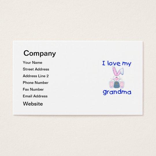 I love my grandma (boy bunny) business card
