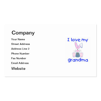 I love my grandma (boy bunny) Double-Sided standard business cards (Pack of 100)