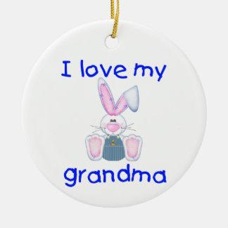 I love my grandma (boy bunny) christmas tree ornament