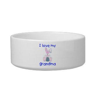 I love my grandma (boy bunny) cat bowl