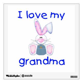 I love my grandma (boy bunny) wall sticker