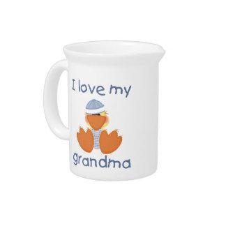 I love my grandma (boy ducky) beverage pitchers