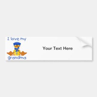 I love my grandma (boy ducky) bumper sticker