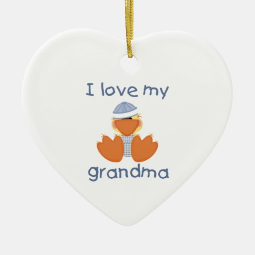 I love my grandma (boy ducky) ceramic ornament