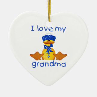 I love my grandma (boy ducky) ceramic ornament