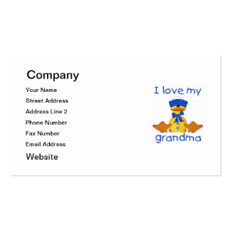 I love my grandma (boy ducky) Double-Sided standard business cards (Pack of 100)