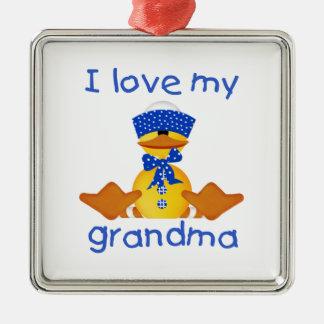 I love my grandma (boy ducky) christmas ornament