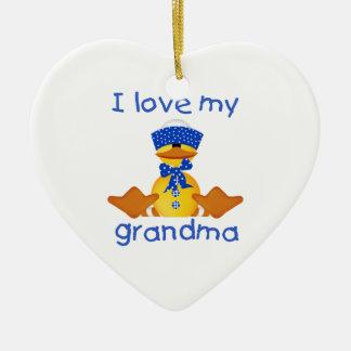 I love my grandma (boy ducky) christmas ornaments
