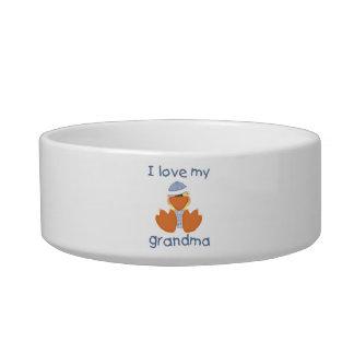 I love my grandma (boy ducky) cat water bowl